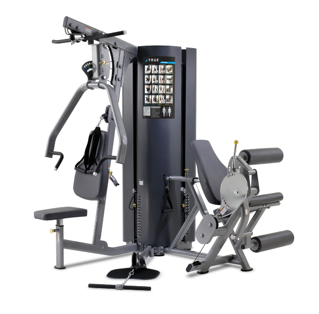 TRUE Fitness MP2.0 2-Weight Stack 3-Station Multi Gym
