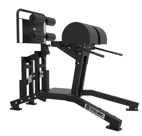 Dynamic Fitness Walk Thru Glute Ham Developer with Knee Pad