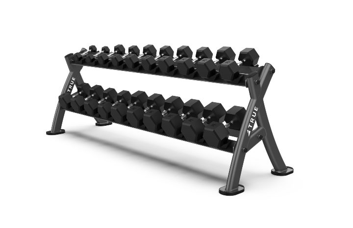 TRUE Fitness XFW4700 Dumbbell Rack Storage