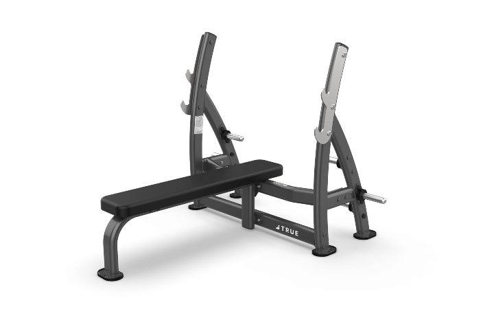 TRUE Fitness XFW7100 Supine Press Bench with Plate Holders