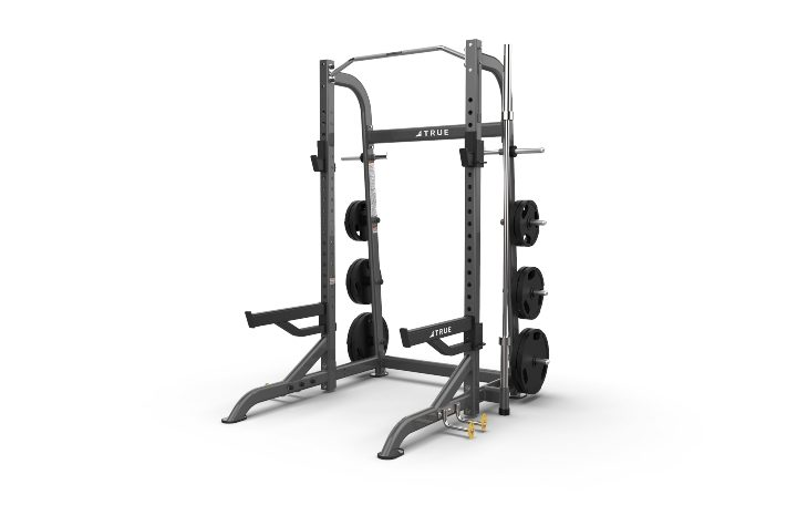 TRUE Fitness XFW8100 Half Rack with Plate Holders