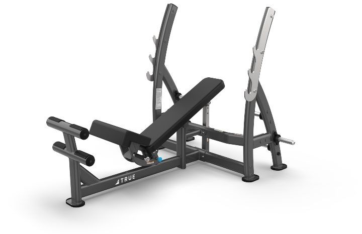 TRUE Fitness XFW8200 Three-Way Press Bench with Plate Holders