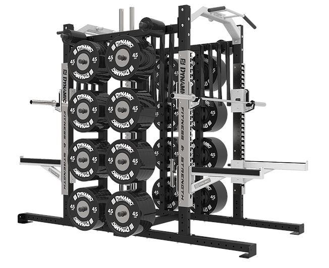 Dynamic Fitness Ultra Pro Double Half Rack Combo