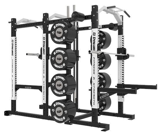 Dynamic Fitness Ultra Pro G2 Power Rack Half Rack Combo
