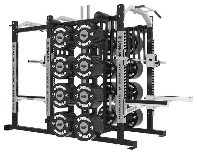 Dynamic Fitness Ultra Pro Power Half Rack Combo