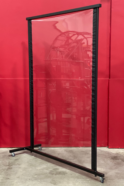Tower Fitness Custom Clear Vinyl Mobile Protective Divider