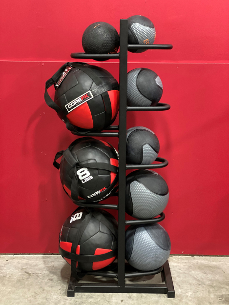 Tower Fitness Custom Medicine and Wall Ball Holder