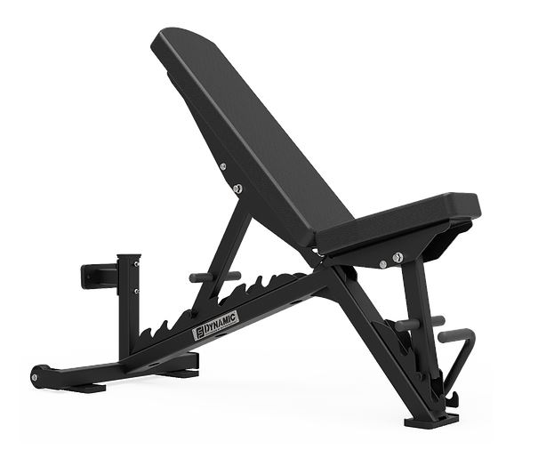 Dynamic Fitness Adjustable Flat Incline Decline Accell Ladder Bench
