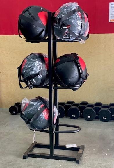 Tower Fitness Custom Storage Solution 6 Wall Ball Holder